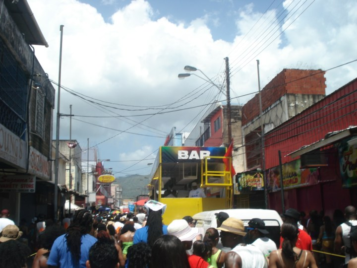 playing mas in Trinidad Carnival