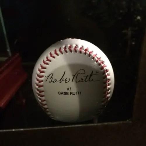 babe ruth signed ball at ulele