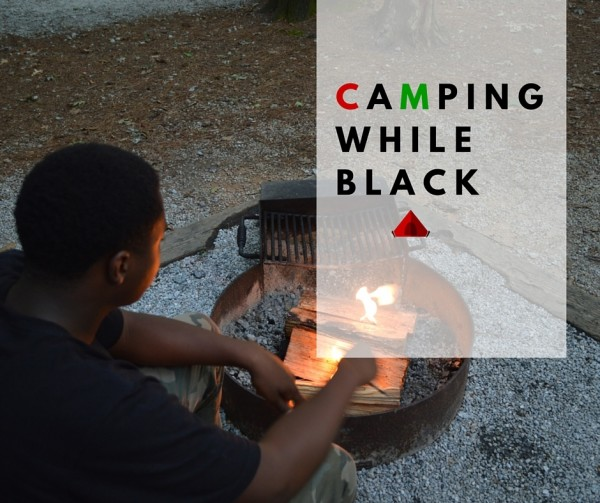 black family camping
