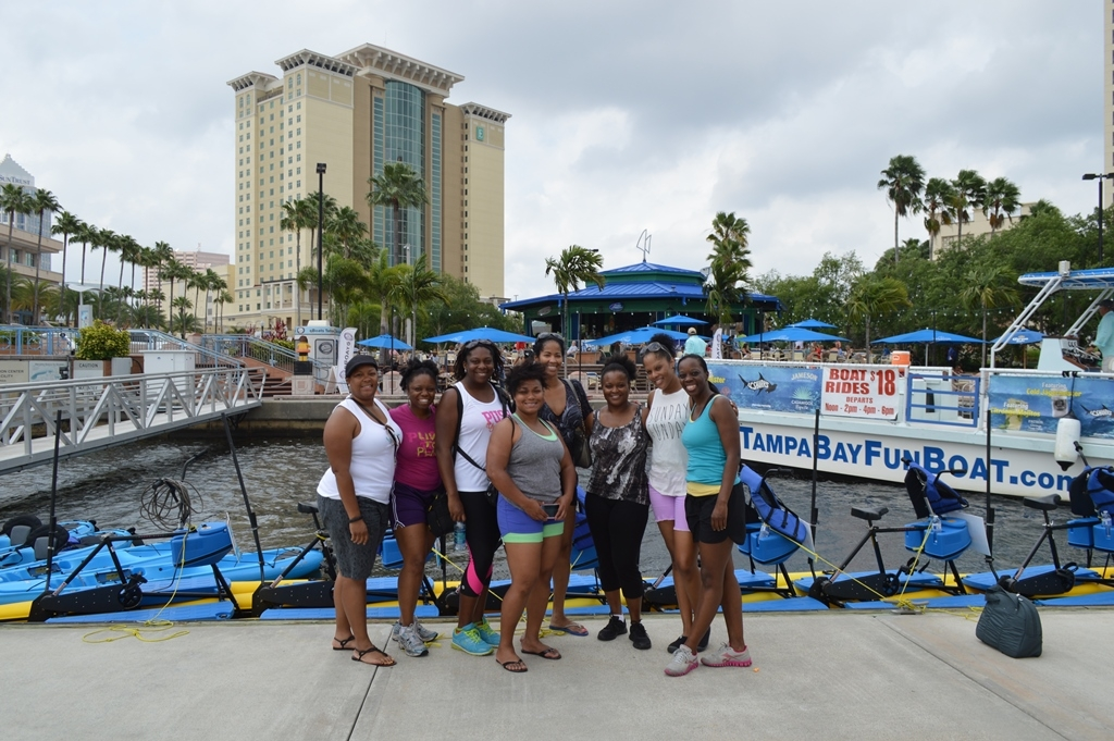 group waterbikes outdoorsy diva