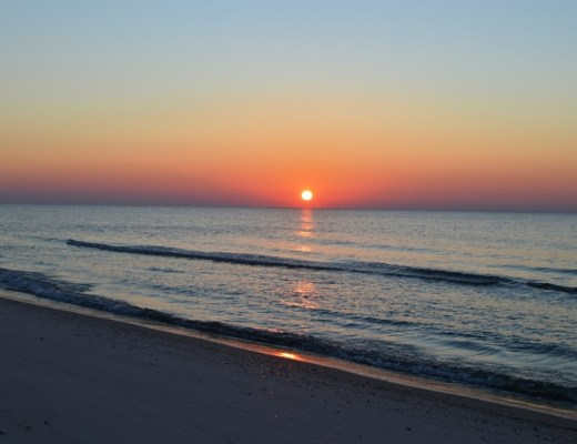 sunrise orange beach