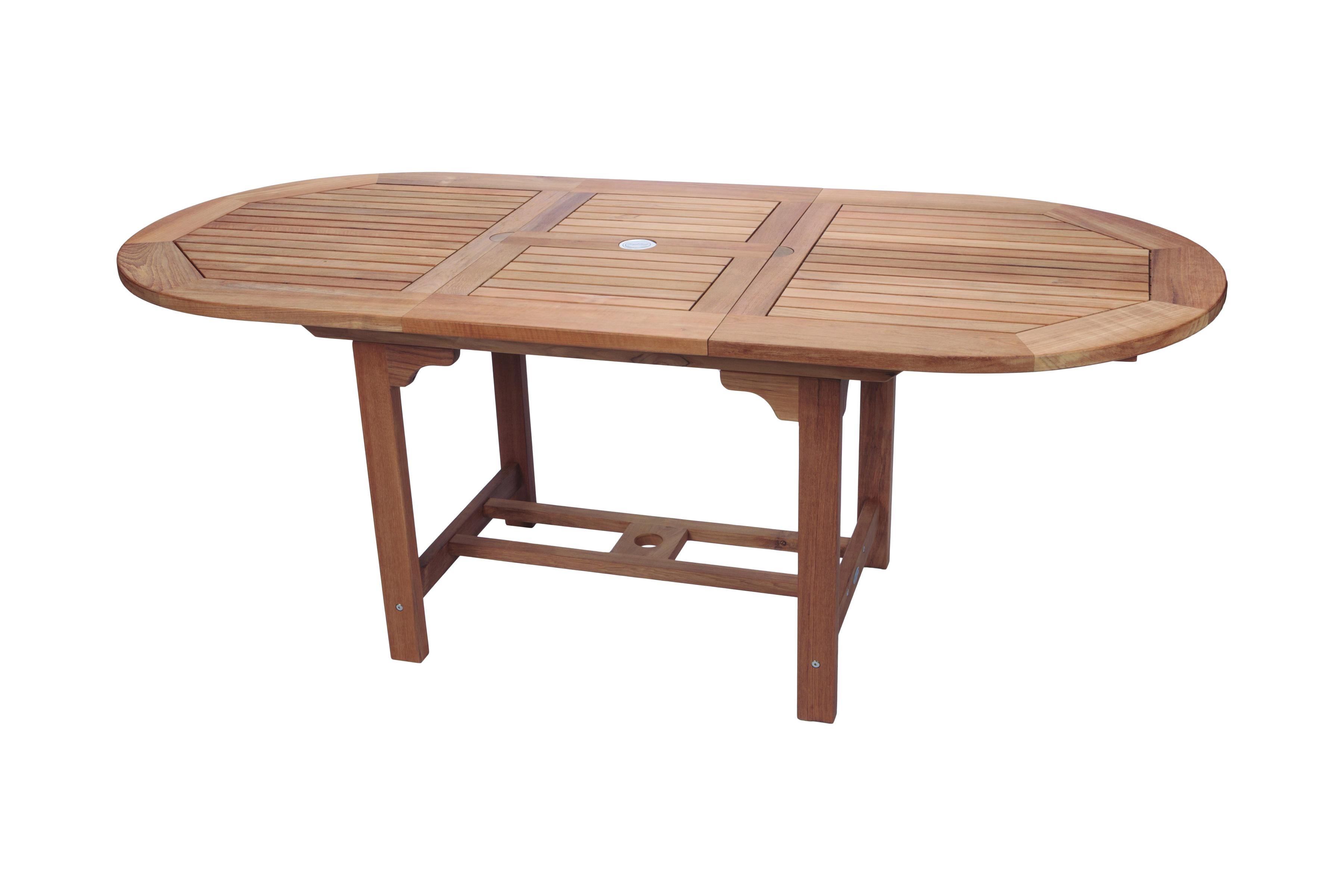 Foot Oval Teak Extension Table Royal Teak Collection - Teak extension table outdoor