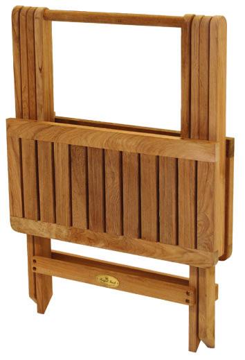 Royal Teaku0027s Teak Folding Side Table (folded)