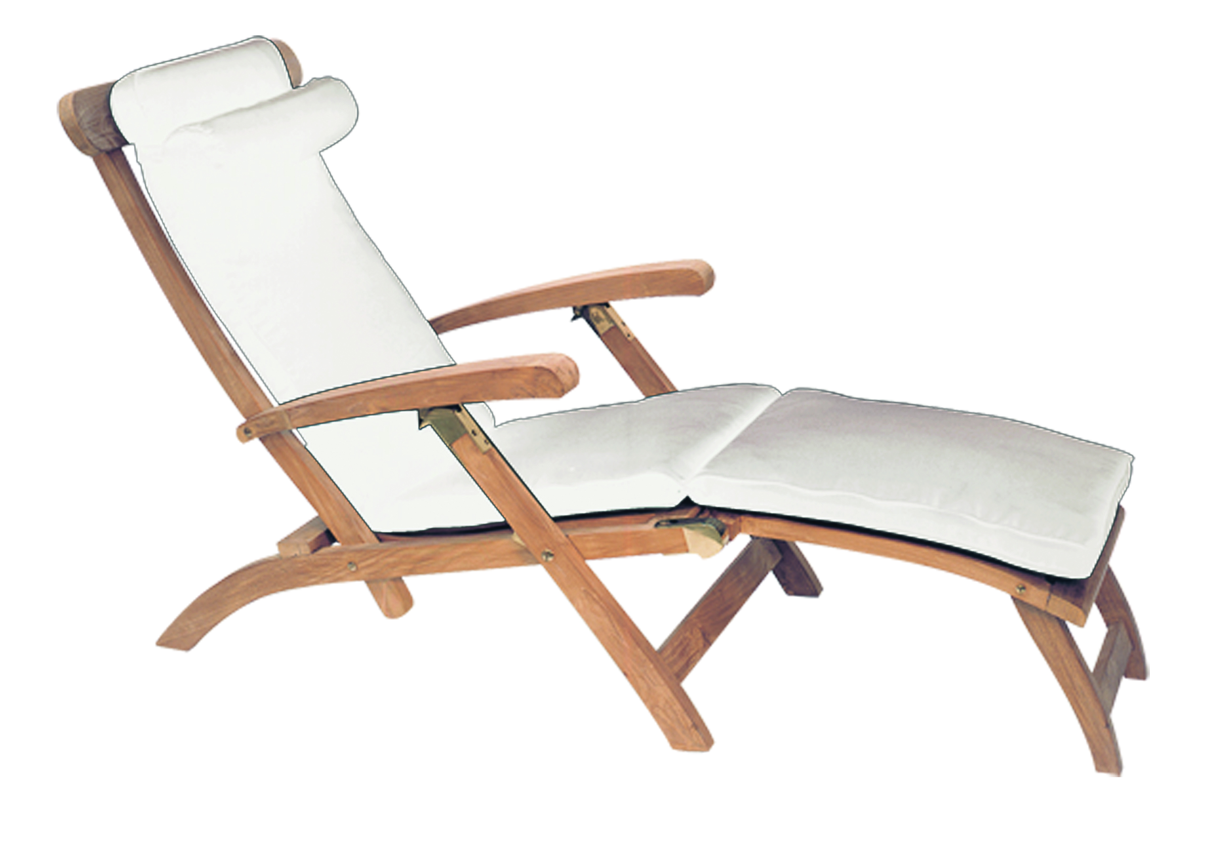 Delicieux Royal Teak Teak Steamer Chair Cushion   White