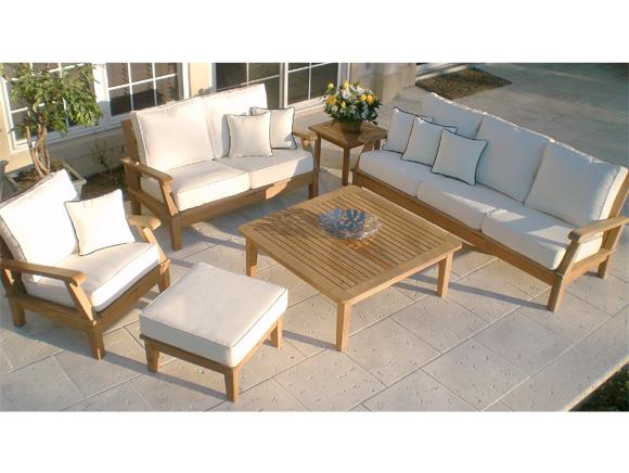 Miami Deep Seating Teak Sofa by Royal Teak Collection Model: MIA3 ...