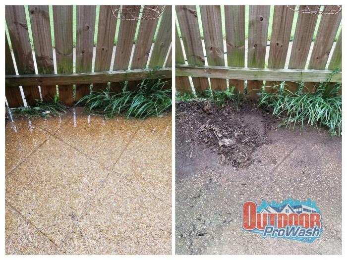Pressure Washing Patio Concrete
