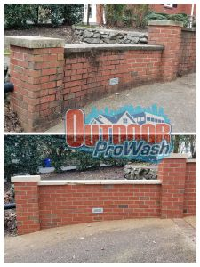 Power Wash Retaining Wall