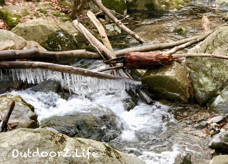 Hiking, Stream, Icicles, OutdoorZ.Life