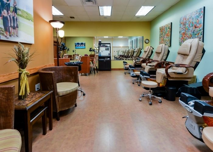 manicure and pedicure room at Hairoics Kill Devil Hills