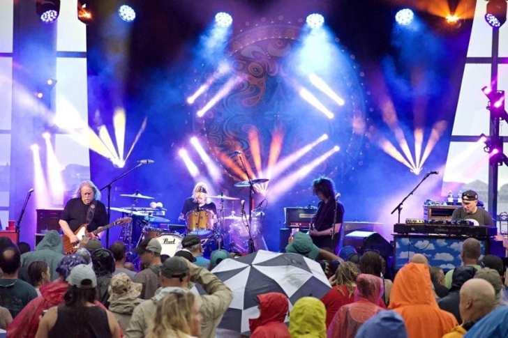 In spite of the rain, the turnout for Government Mule at Roanoke Island Festival Park was strong. Photo Kip Tabb
