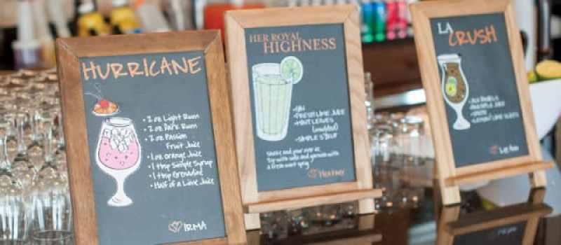 signature wedding drinks