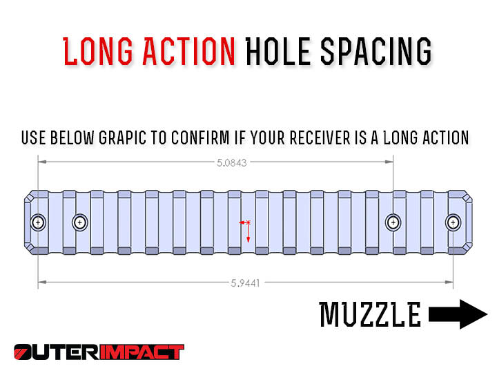 Howa Long action receiver hole spacing measurements