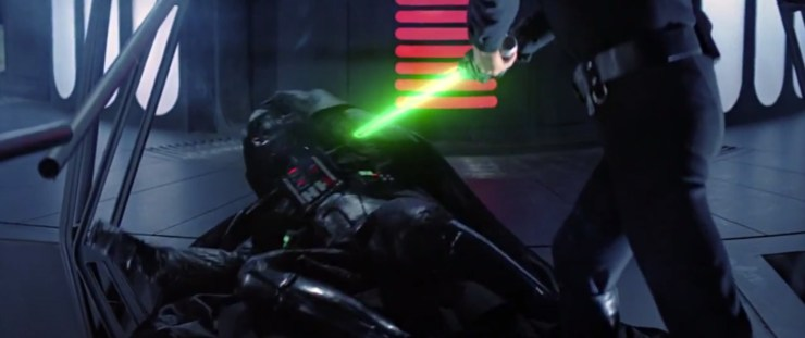 Darth Vader loses hand (Return of the Jedi)