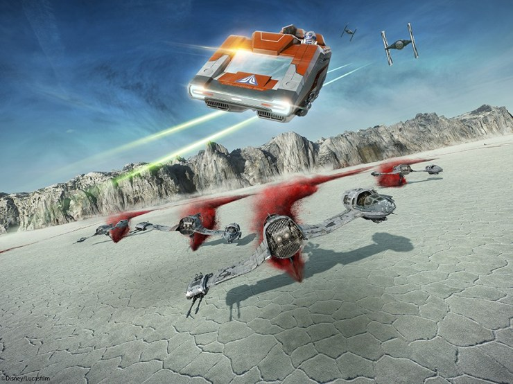 The planet Crait in Star Tours