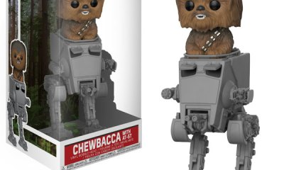 Star Wars Chewbacca in AT-ST Deluxe Pop!