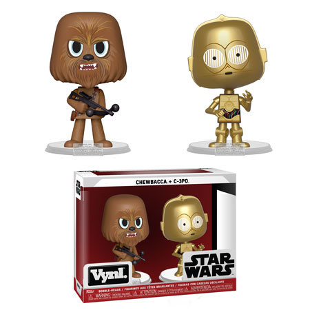 Star Wars Chewbacca and C-3PO Vynl. Figure 2-Pack