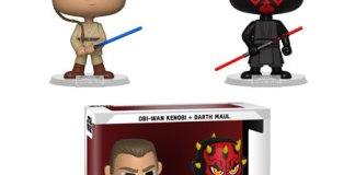 Star Wars Darth Maul and Obi Wan Vynl. Figure 2-Pack