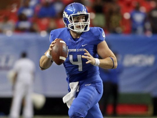 GSU QB Nick Arbuckle has averaged 7.3 ypp this year. (Photo: Jason Getz/USA Today Sports)