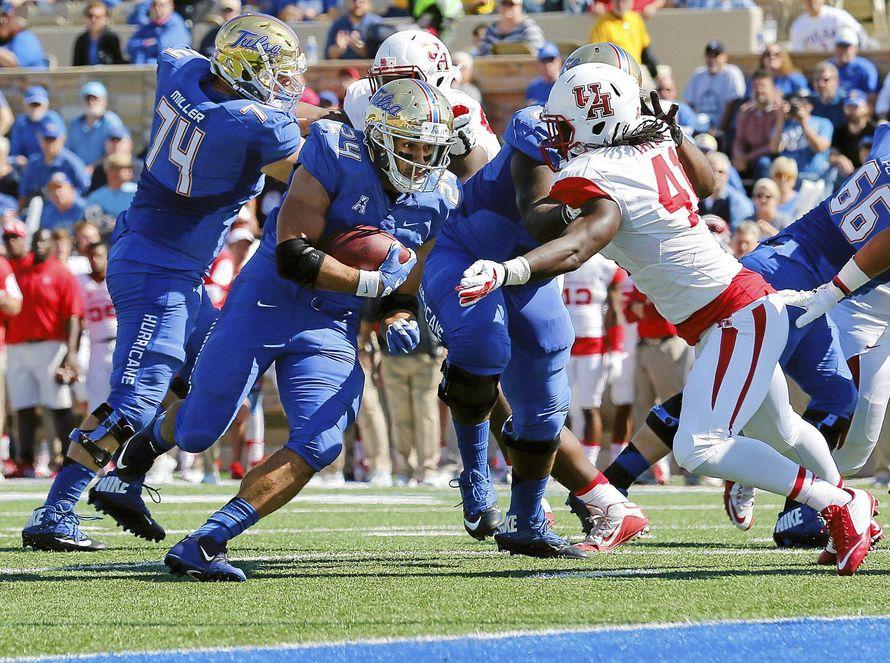 Tulsa's Zack Langer has 11 rushing TDs in just 6 games. (Photo: Tom Gilbert/Tulsa World)