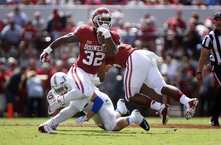Oklahoma RB Samaje Perine (Photo by Brett Deering/Getty Images)