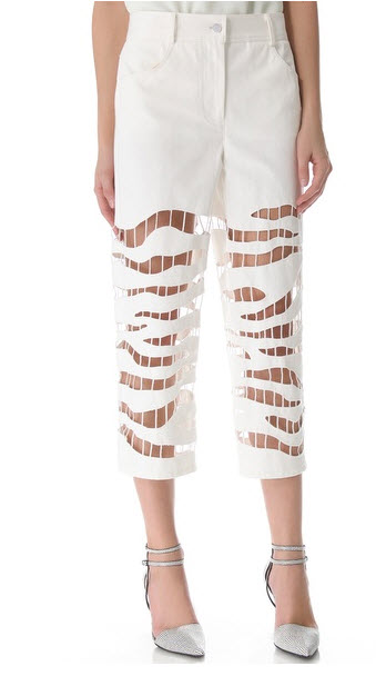 Alexander Wang - Zebra Embroidered Crop Jeans Price $450.00