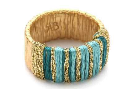 Aurelie Bidermann - Ocean Beach Ring with Threads Price $205.00