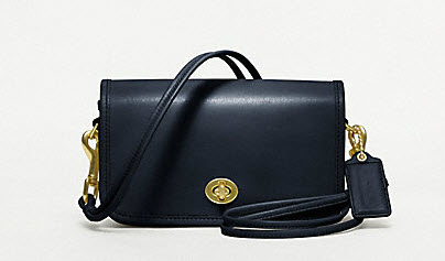 COACH CLASSIC LEATHER SHOULDER PURSE $198.00