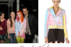 Hayley Williams Celebrity Outfits – Pastel Leather Jacket
