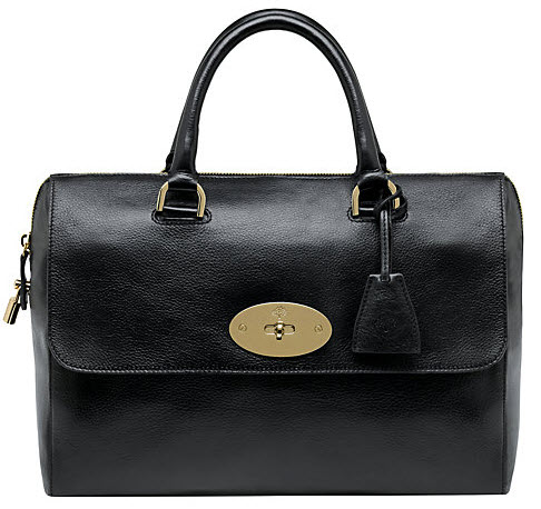 Mulberry Del Rey Top Handle Grab Handbag colour Black Price £895