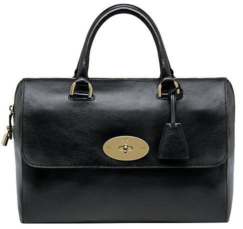 Mulberry Del Rey Top Handle Grab Handbag colour Black Price £895