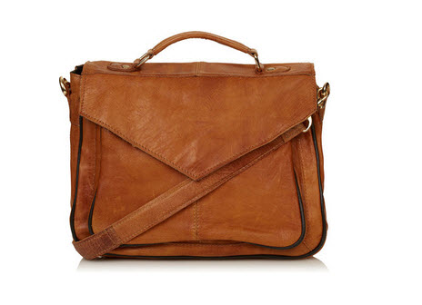 TOPSHOP Vintage Leather Satchel Price £65.00