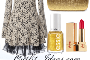 Gold and Black Vintage Outfit – Buy at OASAP