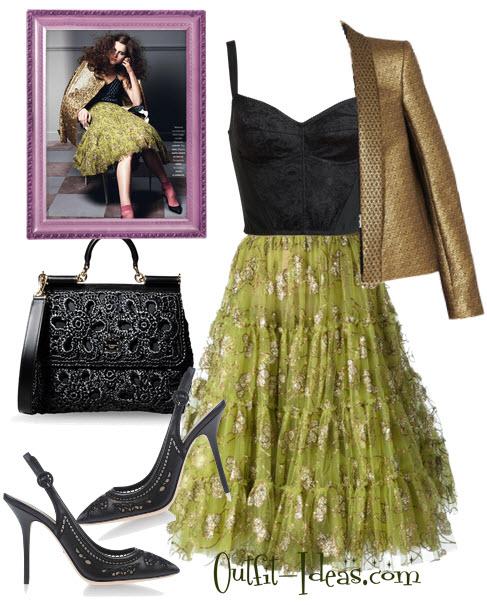 Lanvin embellished tulle skirt