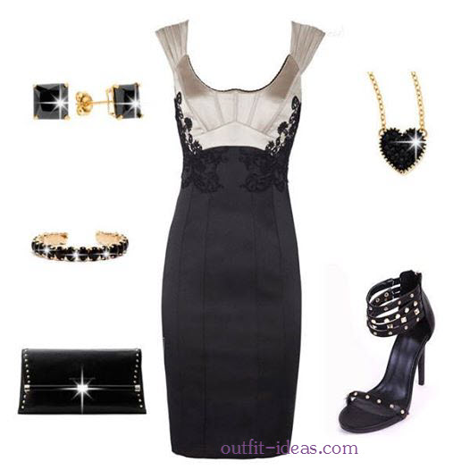 black dress outfit