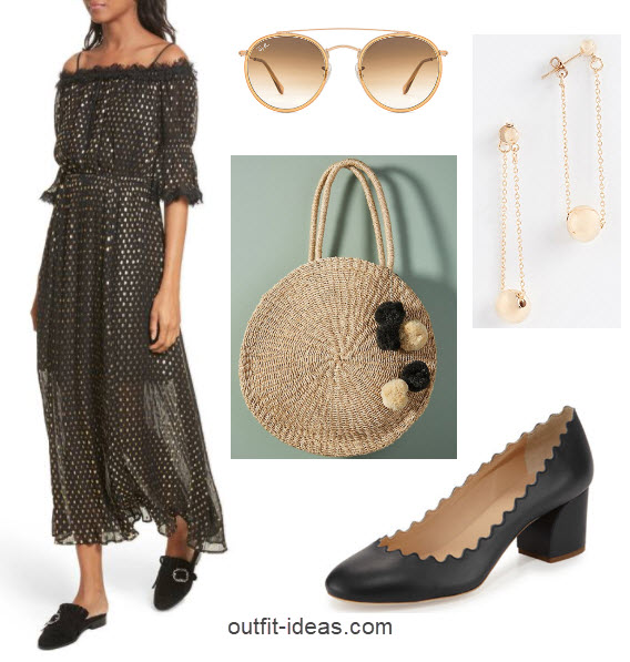 Outfits with Dresses - Dots black and white