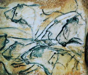 Painting from Chauvet Cave in France, believed to be about 30,000 years old, suggest the roots of human artistry. photo: HTO/Wikimedia commons