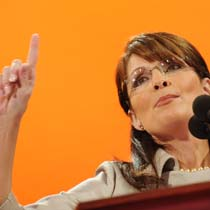 Sarah Palin earned a reputation as a strong debater during her 2006 gubernatorial campaign in Alaska, but she has appeared to struggle in one-on-one sessions with nationally known journalists since being named McCain's running mate. Robyn Beck/AFP/Getty Images