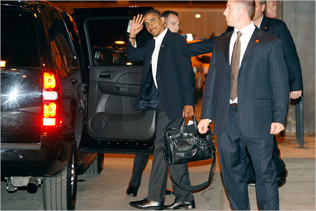 President-elect Barack Obama, shown leaving a hotel in Chicago on Wednesday, spent the day with his family and with transition advisers.