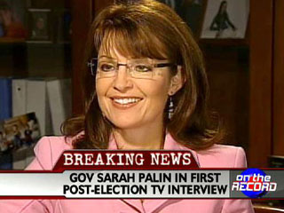 Palin does interview with Greta at Fox News