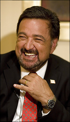 New Mexico Gov. Bill Richardson was once seen as a good bet for secretary of state. Now, some are concerned that neither he nor any other Latino has yet been named to a high-ranking position in the Obama administration. AP
