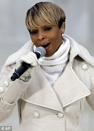 Mary J Blige and James Taylor also performed at the historic event