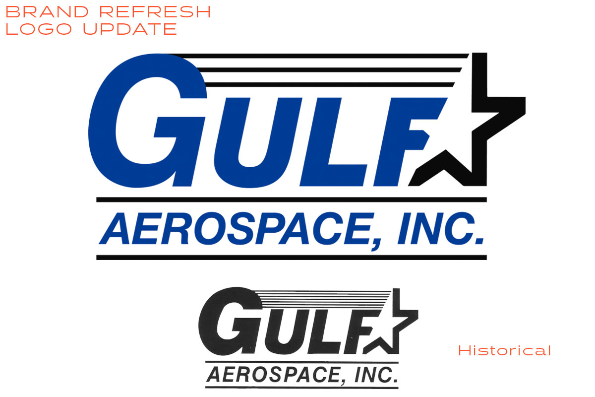 Gulf Aerospace Branding Logo Design Tampa Bay