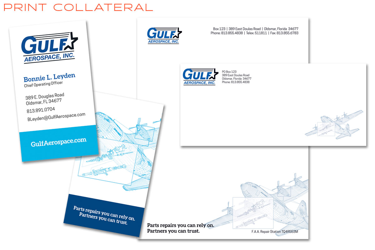 Gulf Aerospace Branding and Print Collateral Design