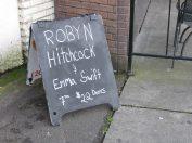 robyn hitchcock and emma swift sidewalk sign