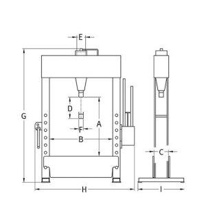 Presse hydraulique d'atelier manuelle Compac HP25 details