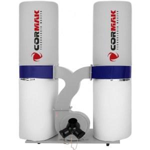 Aspirateur copeaux pour machine à bois Cormak FM300S équipé d'une buse de balayage ; cet aspirateur offre une capacité élevée allant jusqu'à 3900 m3/h. Excellent rapport qualité/prix. Il bénéficie d'un moteur de 2200w, 400v. Diamètre du tuyau d'aspiration 100mm Capacité d'Aspiration 3900m3/h Capacité de sacs 2×150 L