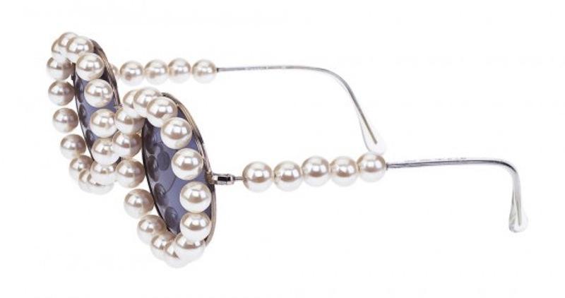 chanel vintage pearl sunglasses