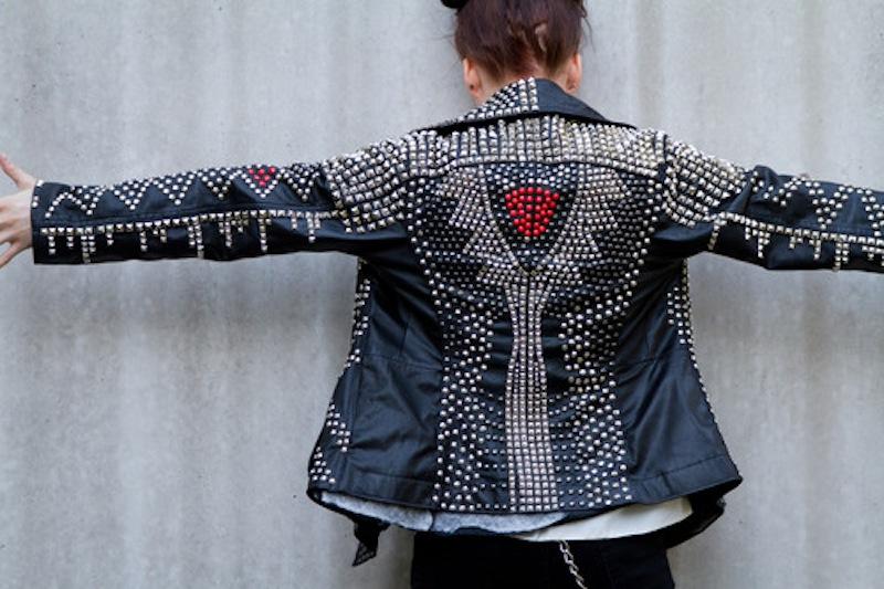 studded jacket by hirviomur 1