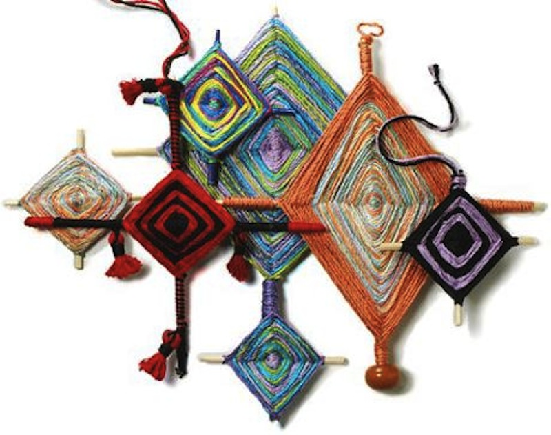 The Ojo de Dios Gods Eye weawing crafts 5