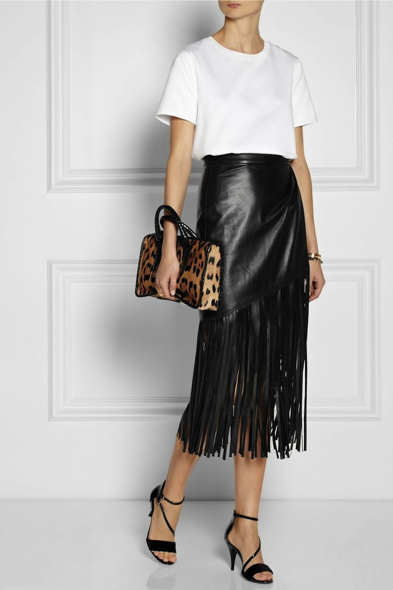 fringe leather skirt tamara mellon 2
